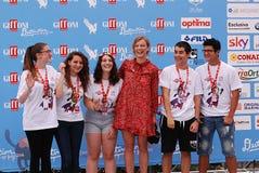 ANTONIA LISKOVA EN EL FESTIVAL DE CINE 2016 DE GIFFONI Foto de archivo libre de regalías