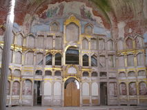 Antonievo-Verkalsky kloster Återställande av templet Unika frescoes Fotografering för Bildbyråer