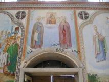 Antonievo-Verkalsky kloster Återställande av templet Unika frescoes Royaltyfria Foton