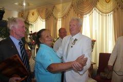Antonina Seredina y Boris Lagutin Foto de archivo libre de regalías