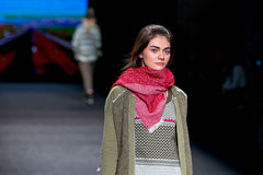 Antonina Vasylchenko (model) walks the runway for the Yerse collection at the 080 Barcelona Stock Photo