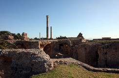 The Antonine Baths in Carthage, Tunisia. Stock Images