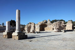 The Antonine Baths in Carthage, Tunisia. Stock Photo