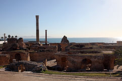 The Antonine Baths in Carthage, Tunisia. Royalty Free Stock Photography