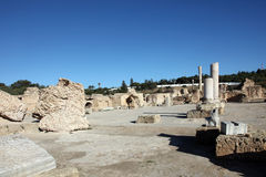 The Antonine Baths in Carthage, Tunisia. Royalty Free Stock Images