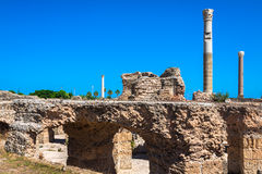 antonine kąpać się Carthage ruiny Tunisia Fotografia Royalty Free