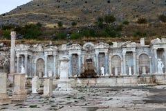 Antonine Nymphaeum in de Oude Stad van Sagalassos in Burdur Royalty-vrije Stock Afbeelding