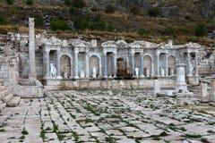 Antonine Nymphaeum in de Oude Stad van Sagalassos in Burdur Stock Afbeelding