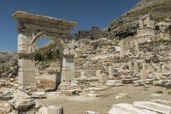 Antonine Nymphaeum em Sagalassos, Turquia Fotos de Stock