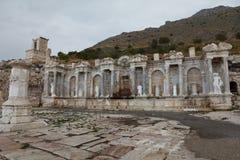 Antonine Nymphaeum en la ciudad antigua de Sagalassos en Burdur Foto de archivo