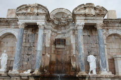 Antonine Nymphaeum en la ciudad antigua de Sagalassos en Burdur Imagen de archivo libre de regalías