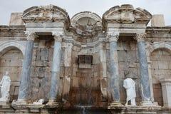 Antonine Nymphaeum na cidade antiga de Sagalassos em Burdur Imagem de Stock Royalty Free