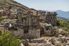 Antonine Nymphaeum przy Sagalassos, Turcja Obrazy Royalty Free