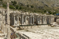 Antonine Nymphaeum przy Sagalassos, Turcja Zdjęcie Royalty Free