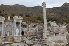 Antonine Nymphaeum in Sagalassos Ancient City in Burdur. Stock Image
