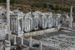 Antonine Nymphaeum in Sagalassos Ancient City in Burdur. Stock Photo