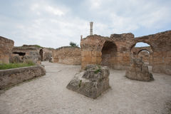 Antonine Thermae in Carthage, Tunis, Tunisia Royalty Free Stock Image