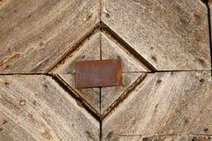 Antonino abstract samarate   rusty brass brown knocker Royalty Free Stock Photos