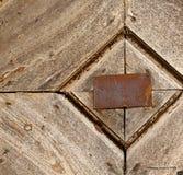 Antonino abstrakcjonistycznego samarate ośniedziały mosiężny brown knocker Zdjęcia Royalty Free