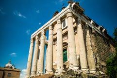 Antoninus και ναός Faustina Στοκ Φωτογραφία