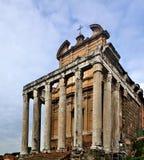 antoninus faustina寺庙 免版税库存图片