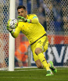 Antonio Adan of Real Betis. During a Spanish League match against RCD Espanyol at the Power8 stadium on March 3, 2016 in Barcelona, Spain royalty free stock photos