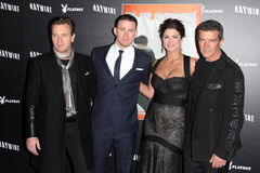 Antonio Banderas, Channing Tatum, Gina Carano Royalty Free Stock Photo