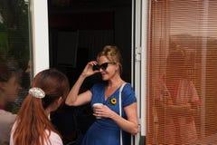 Antonio Banderas i Melanie Griffith podczas dobroczynności wizyty zdjęcie royalty free