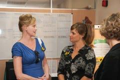 Antonio Banderas i Melanie Griffith podczas dobroczynności wizyty fotografia stock