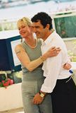 Antonio Banderas and Melanie Griffith. CANNES, FRANCE - MAY 25: Antonio Banderas and Melanie Griffith attand the photocall for the film 'Femme fatale' at the Royalty Free Stock Image