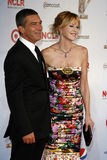 Antonio Banderas, Melanie Griffith. LOS ANGELES - SEP 10:  Melanie Griffith; Antonio Banderas arriving at the 2011 NCLR ALMA Awards held at Santa Monica Civic Royalty Free Stock Photo