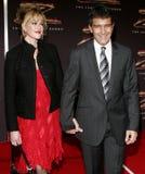 Antonio Banderas and Melanie Griffith Stock Image