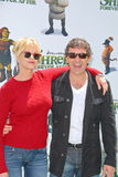 Antonio Banderas,Melanie Griffith. Melanie Griffith and Antonio Banderas at the 'Shrek Forever After' Los Angeles Premiere, Gibson Amphitheater, Universal City stock images