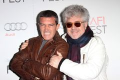 Antonio Banderas, Pedro Almodovar. Antonio Banderas and Pedro Almodovar  at the 2011 AFI FEST Special Screening of Law of Desire, Chinese Theater, Hollywood, CA Stock Photography