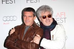 Antonio Banderas, Pedro Almodovar photo libre de droits
