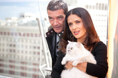 Antonio Banderas and Salma Hayek Stock Photography