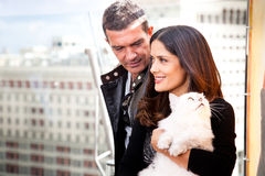 Antonio Banderas and Salma Hayek Royalty Free Stock Photography