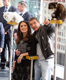Antonio Banderas and Salma Hayek arriving at the Royalty Free Stock Photo