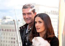 Antonio Banderas and Salma Hayek arriving at t Stock Photos