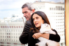 Antonio Banderas and Salma Hayek arriving at t Stock Photo
