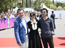 Antonio Banderas, Salma Hayek, Fatih συγγενές Στοκ Εικόνα