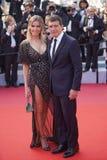 Antonio Banderas y Nicole Kimpel foto de archivo
