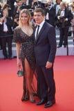 Antonio Banderas y Nicole Kimpel fotos de archivo