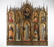 Antonio and Bartolomeo Vivarini: Polyptych of the Virgin and Child with Saints Royalty Free Stock Image