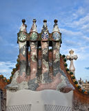 antonio batllo casa dekorujący gaudi dach Obrazy Royalty Free