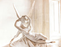 Antonio Canova's statue Cupid and Psyche. Stock Photography