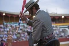Antonio Domecq, ταυρομάχος στην πλάτη αλόγου ισπανικά Στοκ Φωτογραφία
