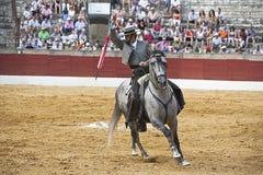 Antonio Domecq, stierenvechter op horseback het Spaans Stock Foto's