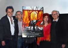 Antonio Ferrera, Christo, Jeanne-Claude und Albert Maysles Lizenzfreies Stockfoto