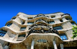 Antonio Gaudi Casa Mila or Pedrera Royalty Free Stock Photo